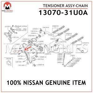 13070-31U0A NISSAN GENUINE TENSIONER ASSY-CHAIN 1307031U0A