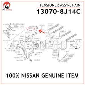 13070-8J14C NISSAN GENUINE TENSIONER ASSY-CHAIN 130708J14C