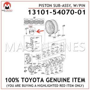13101-54070-01 TOYOTA GENUINE PISTON SUB-ASSY, W/PIN 131015407001