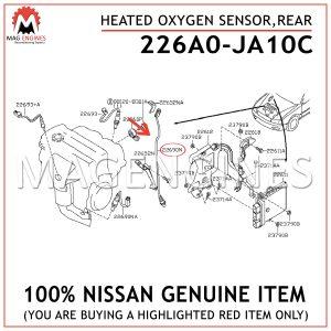 226A0-JA10C NISSAN GENUINE HEATED OXYGEN SENSOR,REAR226A0JA10C