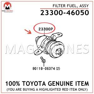 23300-46050 TOYOTA GENUINE FILTER, FUEL (FOR EFI) 2330046050