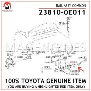 23810-0E011TOYOTA GENUINE RAIL ASSY COMMON 238100E011