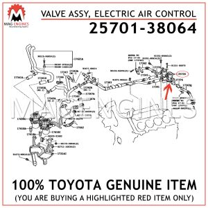 25701-38064 TOYOTA GENUINE VALVE ASSY, ELECTRIC AIR CONTROL 2570138064