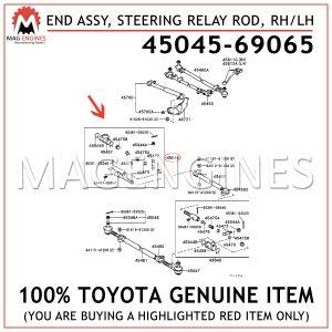 45045-69065 TOYOTA GENUINE END SUB-ASSY, STEERING RELAY ROD, RH/LH4504569065