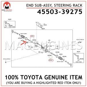 45503-39275 TOYOTA GENUINE END SUB-ASSY, STEERING RACK 4550339275