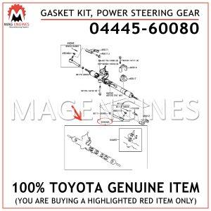 04445-60080 TOYOTA GENUINE GASKET KIT, POWER STEERING GEAR (FOR RACK & PINION) 0444560080