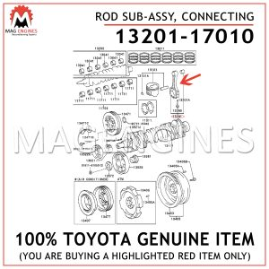 13201-17010 TOYOTA GENUINE ROD SUB-ASSY, CONNECTING 1320117010