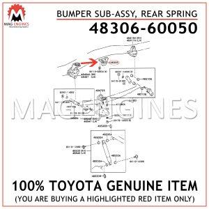 48306-60050 TOYOTA GENUINE BUMPER SUB-ASSY, REAR SPRING 4830660050