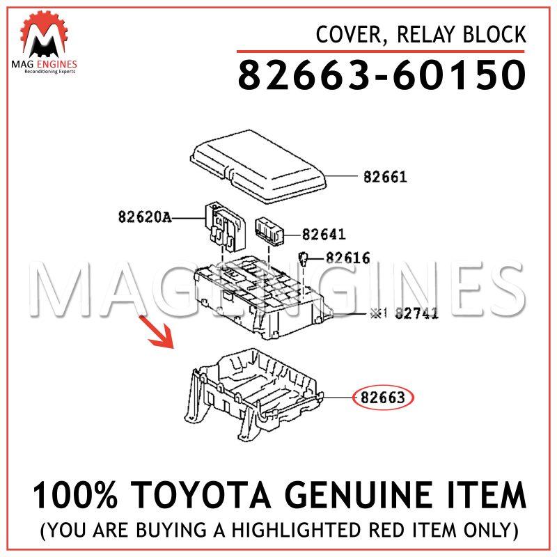 Genuine Toyota 82663-0C060 Relay Block Cover