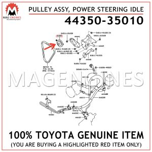 44350-35010 TOYOTA GENUINE PULLEY ASSY, POWER STEERING IDLE 4435035010