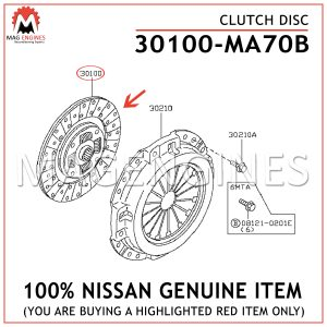 30100-MA70B NISSAN GENUINE CLUTCH DISC 30100MA70B