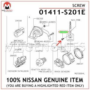 01411-S201E NISSAN GENUINE SCREW 01411S201E