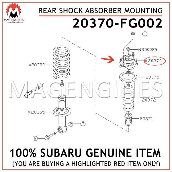 20370-FG002 SUBARU GENUINE REAR SHOCK ABSORBER MOUNTING 20370FG002