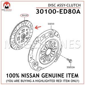 30100-ED80A NISSAN GENUINE DISC ASSY-CLUTCH 30100ED80A