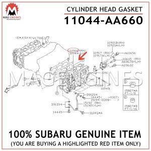11044-AA660 SUBARU GENUINE CYLINDER HEAD GASKET 11044AA660