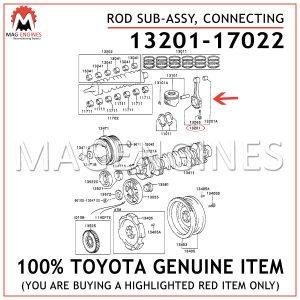 13201-17022 TOYOTA GENUINE ROD SUB-ASSY, CONNECTING 1320117022