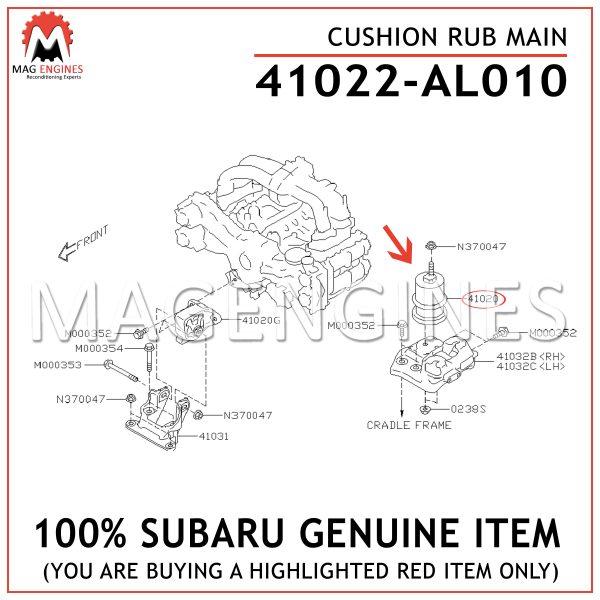 41022-AL010 SUBARU GENUINE CUSHION RUB MAIN 41022AL010