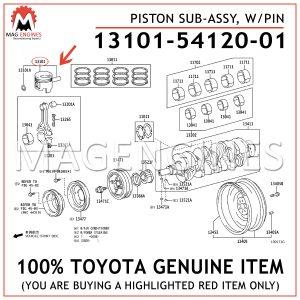 13101-54120-01 TOYOTA GENUINE PISTON SUB-ASSY, WPIN 131015412001