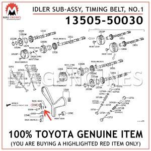 13505-50030 TOYOTA GENUINE IDLER SUB-ASSY, TIMING BELT, NO.1 1350550030