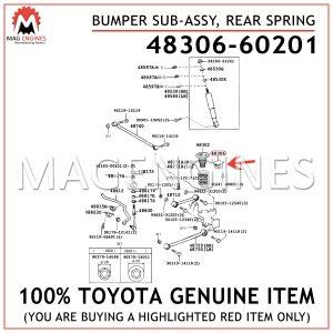 48306-60201 TOYOTA GENUINE BUMPER SUB-ASSY, REAR SPRING 4830660201