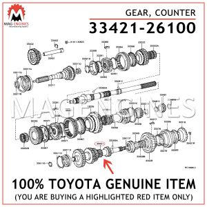 33421-26100 TOYOTA GENUINE GEAR, COUNTER 3342126100
