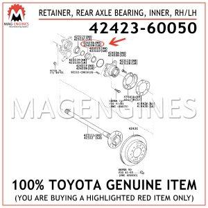 42423-60050 TOYOTA GENUINE RETAINER, REAR AXLE BEARING, INNER, RHLH 4242360050