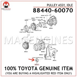 88440-60070 TOYOTA GENUINE PULLEY ASSY, IDLE 8844060070
