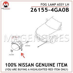 26155-4GA0B NISSAN GENUINE FOG LAMP ASSY LH 261554GA0B