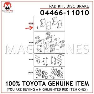 04466-11010 TOYOTA GENUINE PAD KIT, DISC BRAKE 0446611010
