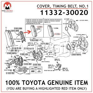11332-30020 TOYOTA GENUINE COVER, TIMING BELT, NO.1 1133230020