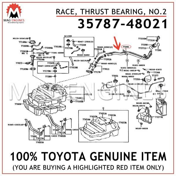35787-48021 TOYOTA GENUINE RACE, THRUST BEARING, NO.2 3578748021