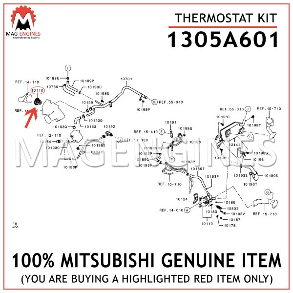 1305A601 MITSUBISHI GENUINE THERMOSTAT KIT