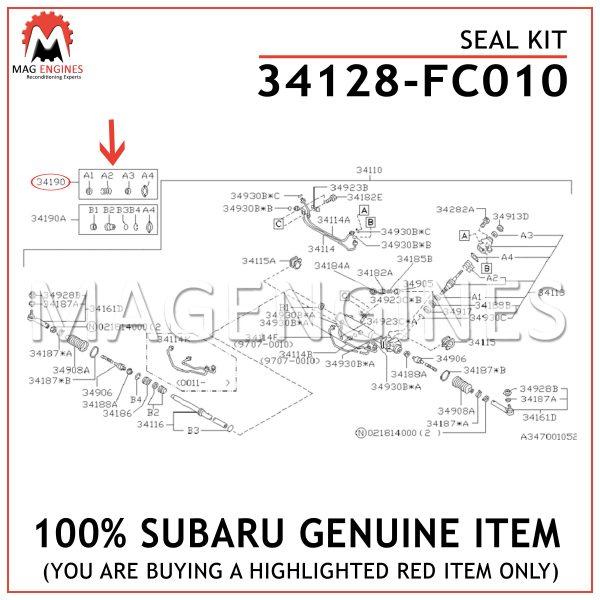 34128-FC010 SUBARU GENUINE SEAL KIT 34128FC010