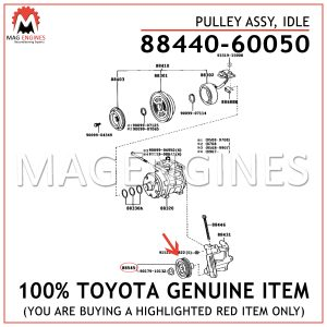 88440-60050 TOYOTA GENUINE PULLEY ASSY, IDLE 8844060050