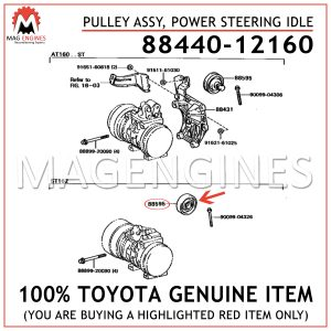 88440-12160 TOYOTA GENUINE PULLEY ASSY, POWER STEERING IDLE 8844012160